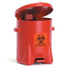"Polyethylene Biohazard Can 6-Gallon • 13.5""W x 16.5""D x 16""H 1 ea"