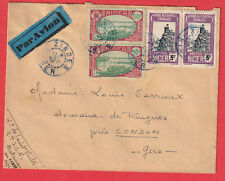 ZINDER NIGER 1942 CONDOM GERS LETTRE COVER