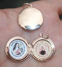 St Therese of the Child Jesus-St.Therese of Lisieux rose gold relic locket*Nice!