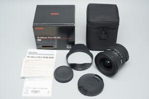 Sigma EX 10-20mm f/3.5 F3.5 HSM DC Lens For Canon EF Mount, AF, Wide Angle