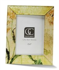 Gift Craft Floral Motif Photo Frame, 5 x 7