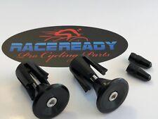 2 Race Ready... Alloy Handlebar End Caps + 2 Presta Valve Caps.. MTB ...Black