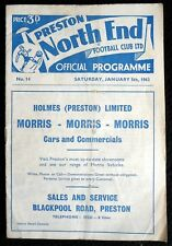 Preston North End v Sunderland    5-1-1963  Postponed