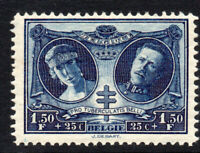 Belgium 1.50 Franc + 25 Cent Stamp c1926 Mounted Mint Hinged(tiny gum tone)(3102