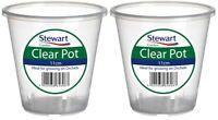 2 x 11cm Stewart Garden Pot Clear Orchid Plant Pot Planter Plastic 11cm