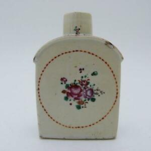 18th CENTURY CHINESE FAMILLE ROSE PORCELAIN TEA CADDY, QIANLONG PERIOD