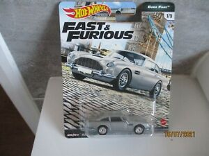 HOTWHEELS  FAST & FURIOUS EURO FAST ASTON MARTIN DB5 RUBBER TYRES CRACKED BUBBLE
