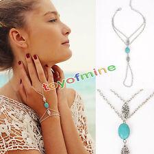 Multilayer Tassel Slave Bracelet Bangle Finger Ring Harness Hand Chain Jewelry