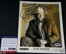 ALAN JACKSON Rare Signed Photo Bonnie Owens Love You Inscript PSA/DNA Autograph
