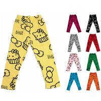 Girls Cute Hello Kitty Design Leggings Blue Yellow Red Age 2-3 Years