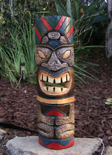 "Tribal Tiki Man Totem Wood Wall Mask Design Tropical Bar 20"" Man Cave Art"