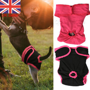 Reusable Female Dog Puppy Pets Nappy Diapers Season Menstrual Sanitary Pants UK