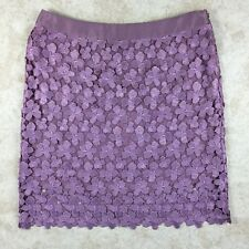 Yoana Baraschi Purple A-line Skirt, Size 4