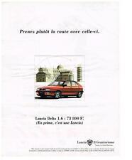 PUBLICITE ADVERTISING  1995   LANCIA     DELTA 1.6L