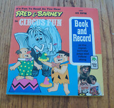 Vintage Fred and Barney in Circus Fun Peter Pan Book & 45 RPM Record 1974