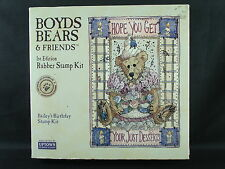 Uptown rubber stamp set, Boyds Bears Bailey'S Birthday Kit