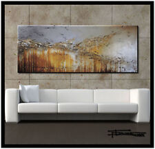 ABSTRACT MODERN PAINTING Canvas WALL ART Large Framed Signed US ELOISExxx