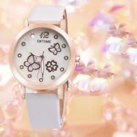 Fashion Waterproof Womens Girls Luminous Leather Analog Quartz Dress Wrist Watch