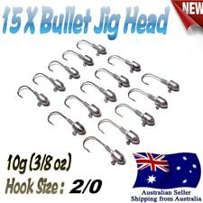 15X 10g (3/8 oz) Hook size 2/0 Like Fishing Bullet Jig Head Chemically Sharpened