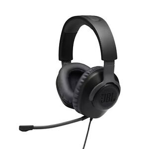 JBL Quantum 100 Wired Over-Ear Gaming Headset with Detachable Boom Mic - Black