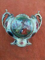 Royal Vienna Gilt Edged Cabinet Vase Bowl Urn with Handles