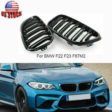 GLOSS BLACK FRONT GRILL FOR BMW 2 SERIES F22 F87 F23 220i 228i 230i M235i M240i