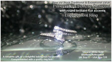 Solitaire with Accents Excellent Cut SI1 Fine Diamond Rings