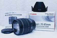 Canon EF-S 15-85mm f/3.5-5.6 IS USM lens w/hood