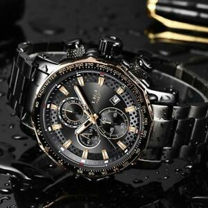 Relogio Masculino LIGE New Sport Chronograph Mens Watches Top Brand Luxury Full