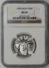1999 Statue of Liberty Half-Ounce Platinum American Eagle $50 MS 69 NGC 1/2 oz