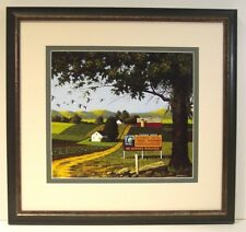 Angler's Covey by Charles Wysocki framed landscape best place to go fishing