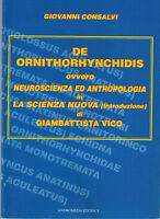 De ornithorhynchidis ovvero neuroscienza ed antropologia in «La scienza nuova»