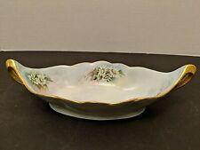 "Leonard Vienna Austria Ceramic Pottery Candy Dish With Handles 8 1/2"""
