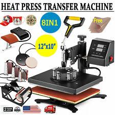8 In 1 Digital T Shirt Heat Press Machine Combo Sublimation Transfer Printer Diy