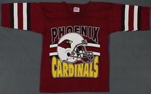 Vintage Phoenix Cardinals NFL Football Garan Single Stitch Shirt Youth S 6-8