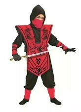 Boys Ninja Warrior 7pcs Costume Dress Up XL (14-16) Red Dragon Outfit Halloween