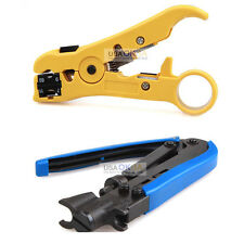 RG59 RG6 RG11 Compression Tool Coaxial Connectors Coax Cable Crimper Stripper