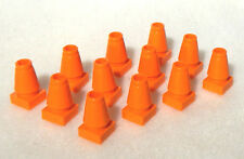 12 NEW LEGO ORANGE CONSTRUCTION CONES city traffic parking street road town