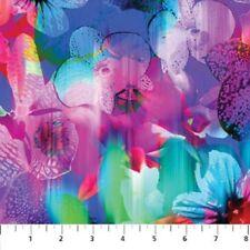 Strokes of Brilliance by Northcott Fabrics-BTY-Blue-Pink-Green-Digital Print
