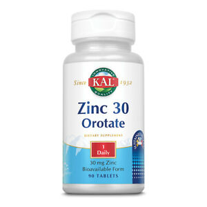 KAL Zinc Orotate Sustained Release 30mg | Nutritive Support for Normal, Healthy