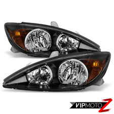 For 02 04 Toyota Camry Sport Edition Style Black Front Headlight Assembly Xv30