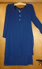 Woman's sz 9/10 - Navy Blue DRESS - Unbranded - Formal DRESS -  look of 2-piece