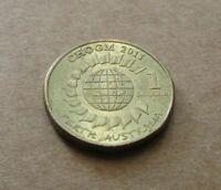 AUSTRALIAN DECIMAL.. 2011 CHOGM...  $1.00 DOLLAR COIN....