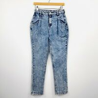 Nasty Gal Womens Acid Wash Jeans High Waist 80s Style Size 10 AU fit 8 AU