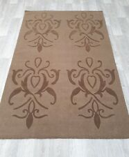 INDIAN HAND TUFTED MODERN FLORAL,100% WOOL RUG, 2.36 x 1.54M, BEIGE & BROWN