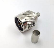 2pcs RF Coax Connector N Male Crimp Teflon Insulation Solderless LMR240