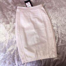 £149 NEW House of CB Celeb Boutique Sachi Pink Leather Metallic Pencil Skirt XS