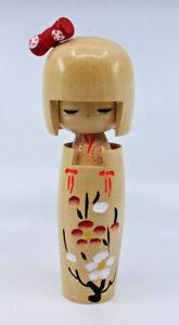 Japanese Creative Wooden Kokeshi Doll Signed Stamped Made in Japan Shirokiya