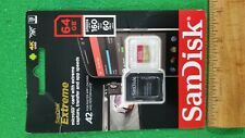 NEW, SanDisk Extreme 64GB Micro SD Card