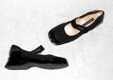 NOUCHKA chaussures babies toile cuir verni noir P 37 neuves